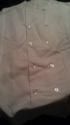 White Chef Shirt/Coat Long Sleeve 10 buttons Brand New