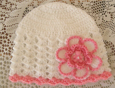 Handmade Crochet Baby Hat in Bella Baby Wonder 4ply yarn FH606