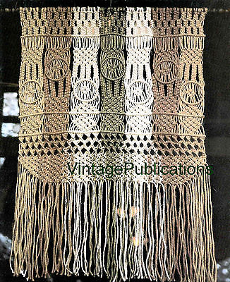 Macrame Wall Hanging PATTERN .. Macrame Wall Art .. Decorative Macrame .. COPY