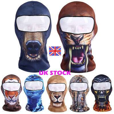 Motorcycle Cycling Full Face Mask Balaclava Ski Outdoor Prints Thermal Windproof