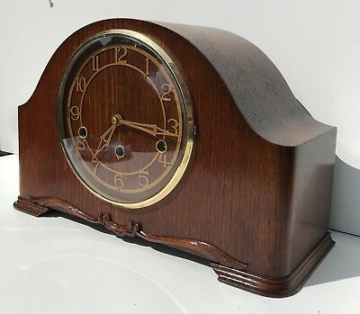 Smiths Enfield Oak Quarter Chiming Mantle Clock