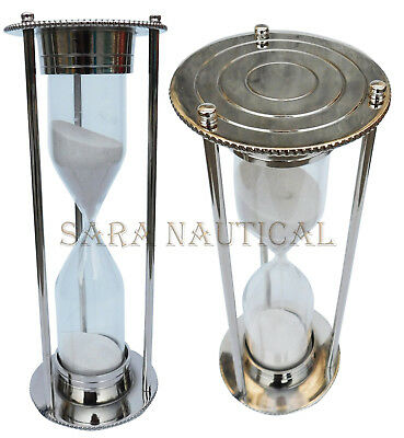 Nautical Maritime Hourglass Sand Timer Brass Table Top Collectible Gift