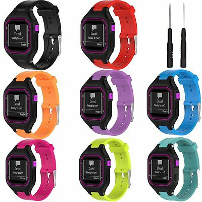 Silicone Fitness Replacement Band Wrist Strap Tool For Garmin Forerunner 25 S/L