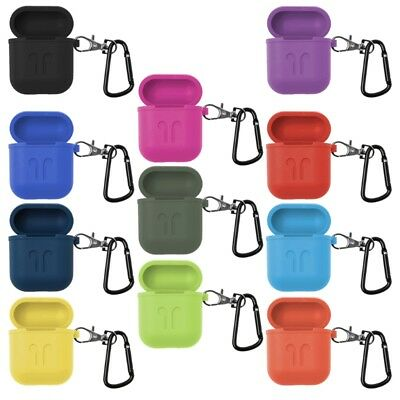 Silicone Anti-Lost Protective Case Cover Skin With Carabiner For Apple AirPods