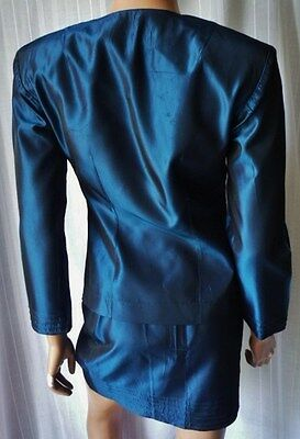 ***tailleur Donna Completo Gonna + Giacca Tg.s Blu Elettrico