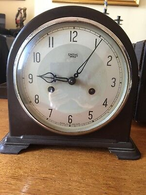 Vintage Smiths Enfield Bakelite Mantel Clock. Made In England. Chime Mechanical.