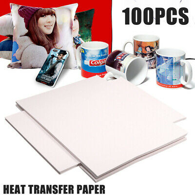 100 Sheets A4 Sublimation Heat Transfer Paper for Polyester Cotton T-Shirt Print
