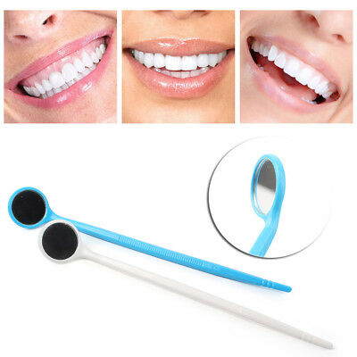 100pcs Disposable Plastic Dental Mouth Glass Mirror Dental Reflector cl