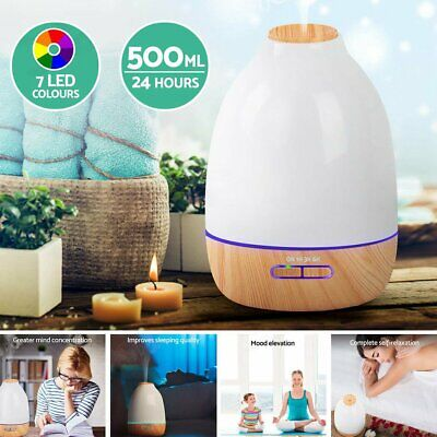 Essential Oil Aroma Aromatherapy LED Air Humidifier Mist Purifier Diffuser 500ml