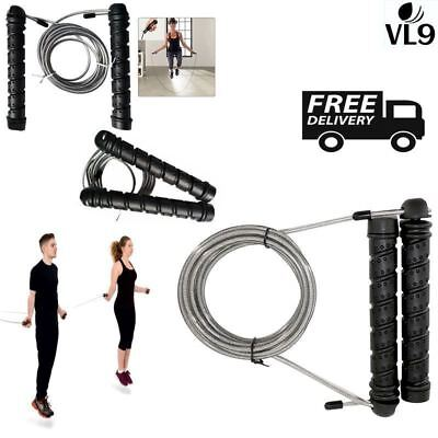 Skipping Rope Ball Bearing Speed Fitness Boxing Gym Crossfit Adjustable Rip Body
