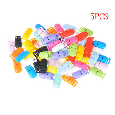 5x Plastic Baby Pacifier Clips Soother Holder for Baby Pacifier Nipples Holder Y