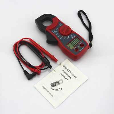 Digital LCD Disaplay Clamp AC/DC Multimeter Amp Volt Meter Resistance Tester AU