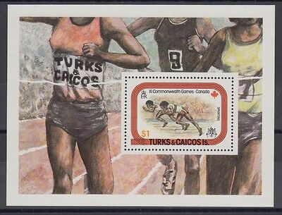 XG-AC057 TURKS & CAICOS ISLANDS IND - Sports, 1978 Commonwealth Games MNH Sheet