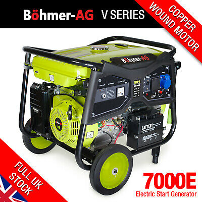 Portable Petrol Generator, 9.5KW /11.5kVA Key Start Camping Power ~ 7000K Bohmer