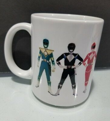Power Rangers mug Full Color 90's Television 11 Oz High Quality