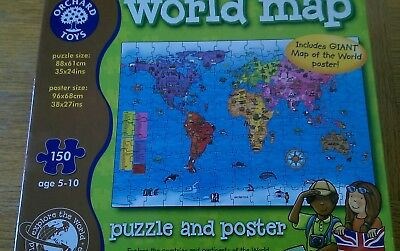 Orchard toys 150 piece world map puzzle poster kids children orchard toys world jigsaw map puzzle poster giant kids geography children travel gumiabroncs Image collections