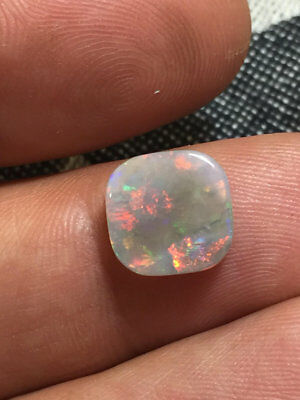 2,32 cts - Solid light opal red multicolor N8 - Mintabie Australie - double side