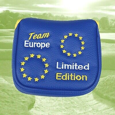 Team Europe Limited Edition Magnetic Mallet Golf Putter Cover for 2 Ball, Spider