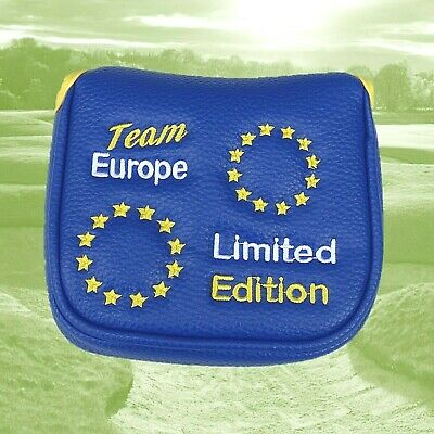 Team Europe Limited Edition Mallet Golf Putter Cover for 2 Ball, Spider, Fang