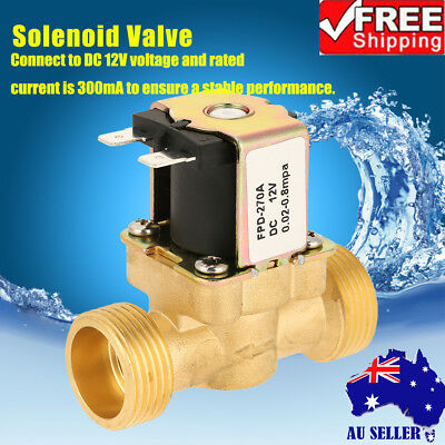 N C 3 4 inch NPSM 12V DC VDC Slim Brass Electric Solenoid Valve Gas Water Air J