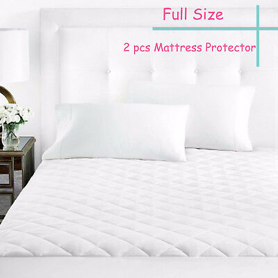 Mattress Cover Bed Topper Bug Dust Mite Waterproof Pad Protector Quilted full x2