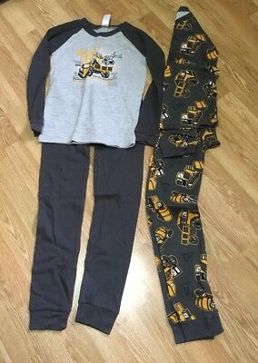 Boys Long Underwear-Large-Set Of Two-Construction Theme
