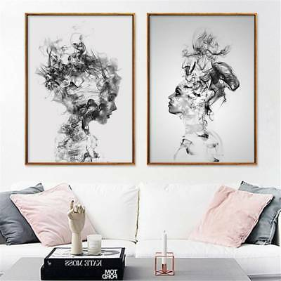 Modern Abstract Girl Art Canvas Prints Home Wall Picture Poster Paintings Decor