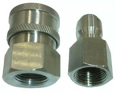 "3/8"" 5000 PSI Stainless Steel Quick Connect Fittings Plug&Socket Pressure Washer"