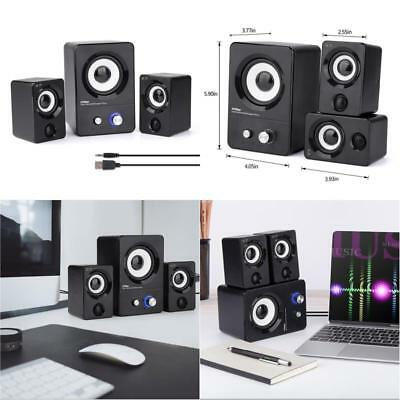 Computer Speakers System USB Powered Speakers for Gaming/Music/Movies Black, New