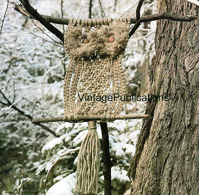 Macrame Owl PATTERN .. Macrame Wall Art .. Decorative Macrame .. LAMINATED COPY
