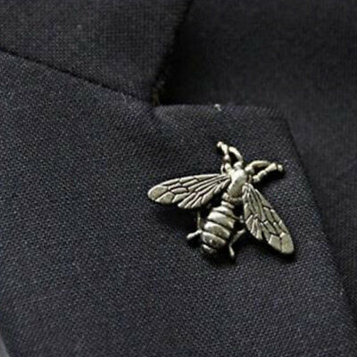 Silver Bee Brooch ~ Animal Badge Backpack Lapel Pin