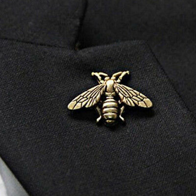 Gold Bronze Bee Pin ~ Animal Bee Brooch Honeybee Badge Backpack Lapel Pin