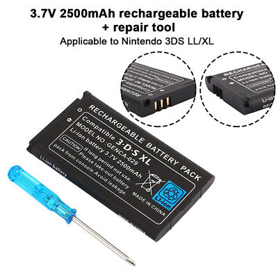 for Nintendo 3DS LL/XL 2500mAh Replacement Video Game Rechargeable Battery