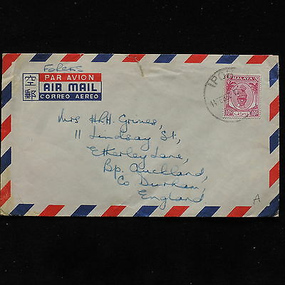 ZS-AB689 MALAYA - Airmail, 1932 From Ipoh To Durham England Cover