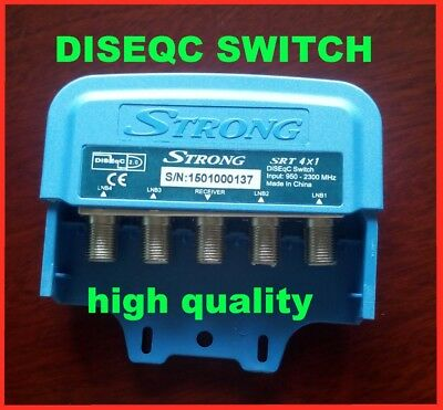 STRONG SRT4X1 DiSEqC Switch Satellites FTA TV LNB Switch For Satellite