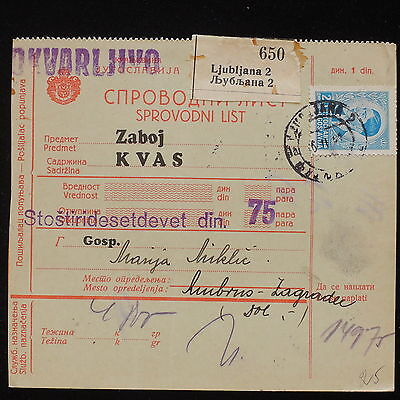 ZS-AA456 YUGOSLAVIA - Registered, From Lubiana Cover