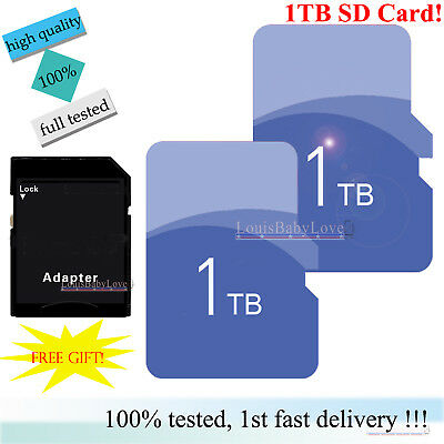 Flash Memory Storage Card 1TB TF Ultra SD SDHC SDXC & Free Adapter For Mobiles