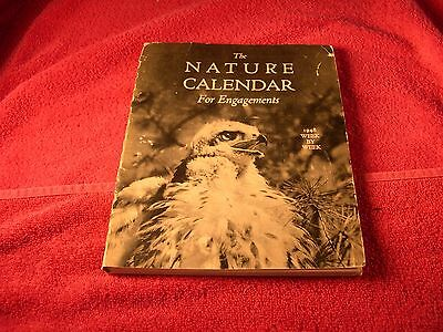 Vintage 1948 The Natures Calendar For Engagements Animals Wild Life