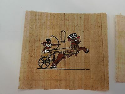 Egyptian Papyrus Pharonic Art Original Mint Condition Hunter Fighter Horse