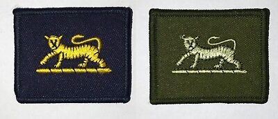 PWRR TRF Princess of Wales Royal Regiment Tiger Army Patch Badge Green Blue