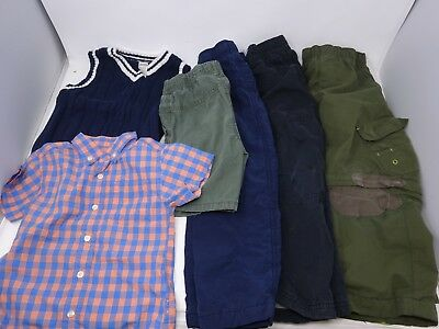 Toddler Boys Lot of 6 Shorts Pants 2 Shirts Carters Circo Size 2T-5Toddler