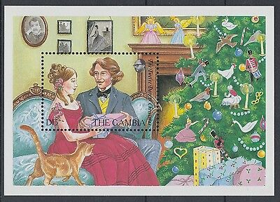 XG-AE063 GAMBIA IND - Christmas, 1987 12 Days, Cats, Music MNH Sheet
