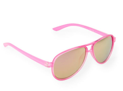 Toddler Girls Plastic Aviator Sunglasses Pink 2 Sizes Outdoor Beach Fashion