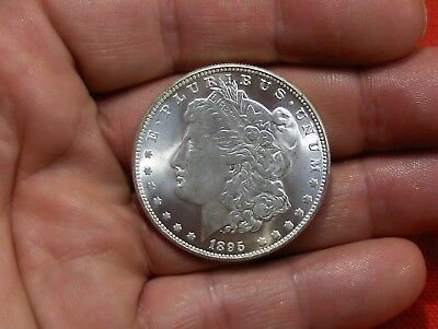 Double Sided Heads 1895 Bright White U.s Morgan Dollar Trick Magic Novelty Coin