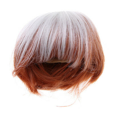 Short Straight Hair Wig for 1/3 BJD SD DD LUTS KID DOC Dolls Accessories