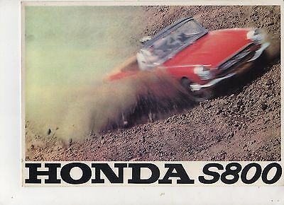 1966 HONDA S800 convertible or coupe Car - 6 Page Sales Brochure -  NCS