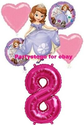 Princess Sofia The First Balloons Bouquet 8th Birthday Party Decorations Sophia