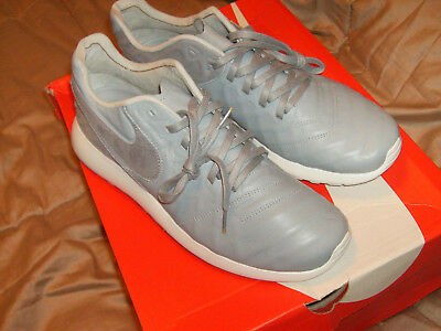 89c983bcdb94a Nike Roshe Tiempo Men Shoes Gray  White Leather 853535-001 Size 11 NEW