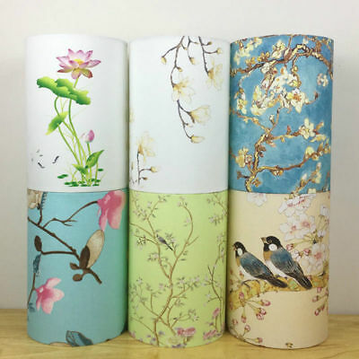 Small Lampshade Flowers Bird Lamp Shade Table Ceiling Light Cover Vintage Retro