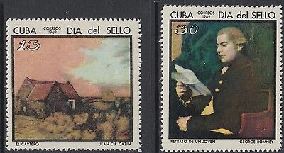 XG-AN530 HAVANA - Paintings, 1969 Stamp Day, 2 Values MNH Set